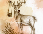 'The Deer' - The Woodland Creatures series.