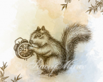 'The Squirrel' - The Woodland Creatures series.