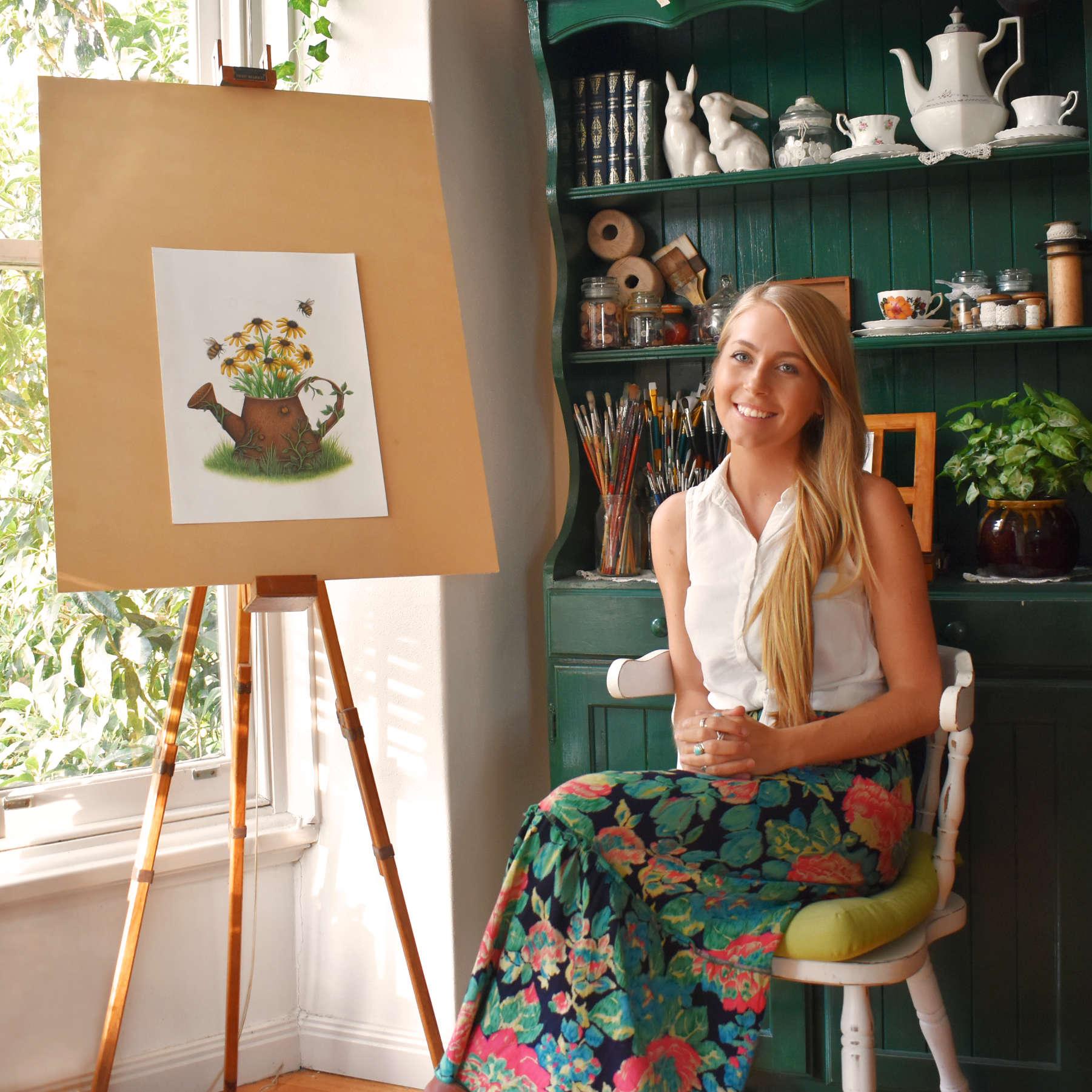 Stacey Maree Portrait - Art Studio