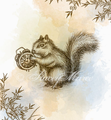 'The Squirrel' - The Woodland Creatures series. Stacey Maree
